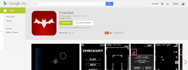 2013-11-30 - Spacebat on Google Play